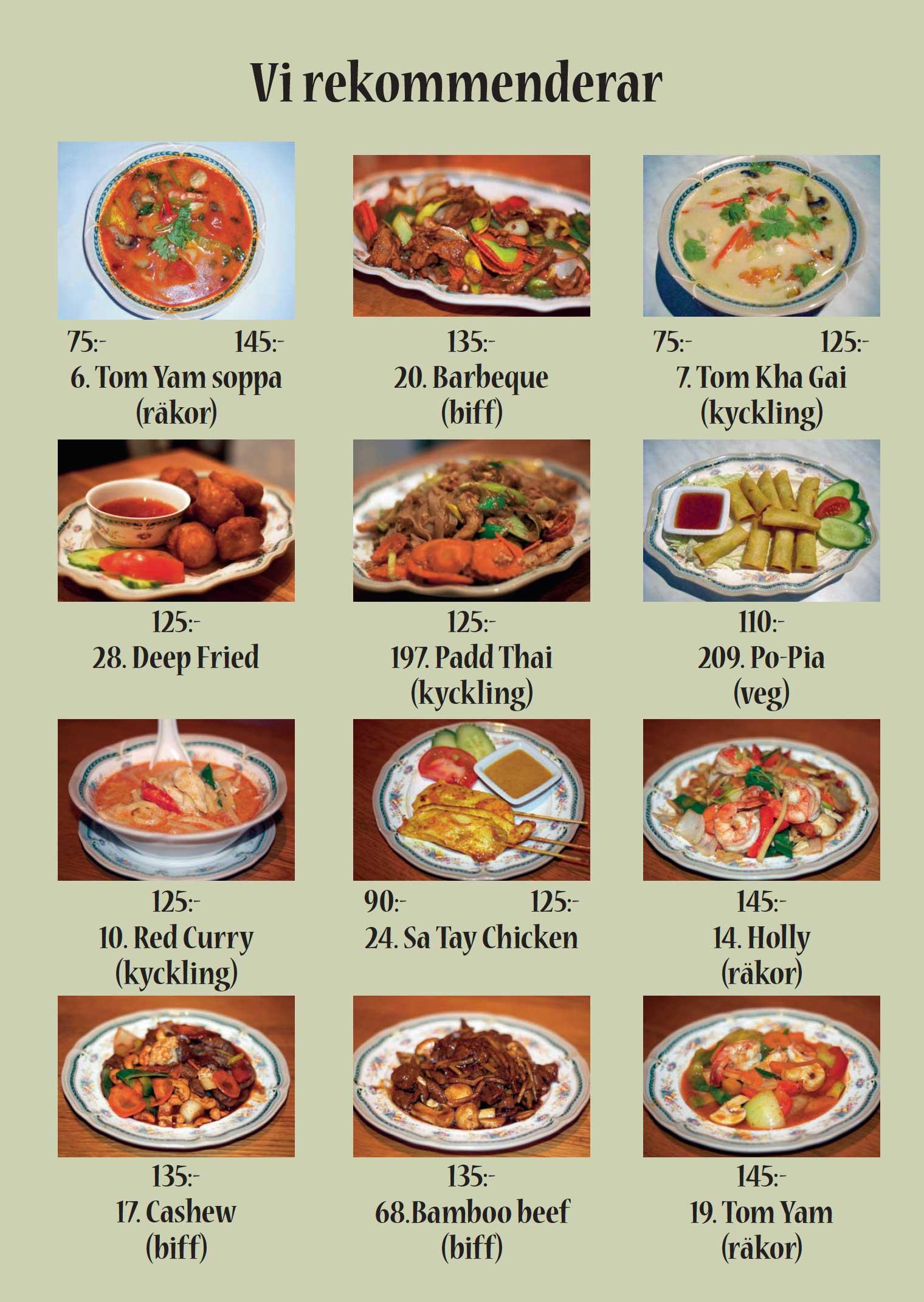 thai take away alingsås meny